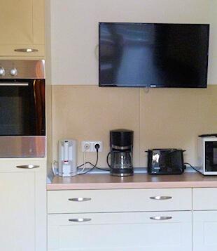 Küche der Ferienwohnung bei Bad Oldesloe
