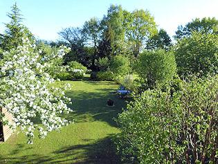 Garten der Pension bei Ahrensburg